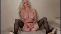 Busty Alexis Ford in hot lingerie finger-fucks her wet pussy