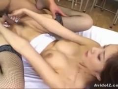 Hot Japanese babe Riko Tachibana fucked by a student