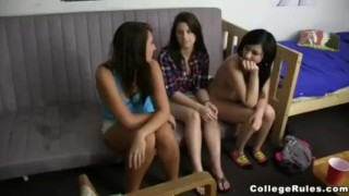 Horny College Girls Suck & Fuck Dorm Cocks