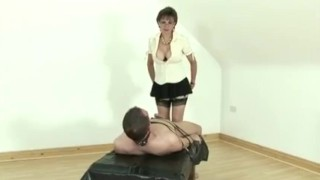 Femdom mature Lady Sonia gives handjob ladysonia huge-tits femdom mature handjob bigtits fake-tits european stockings british fetish handy