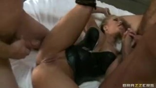 Big-tit Blonde Pornstar Shyla Stylez fucks big-dicks in Gang-bang