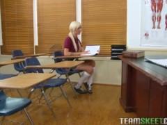 InnocentHigh Young blonde small tits schoolgirl Maia Davis fucks