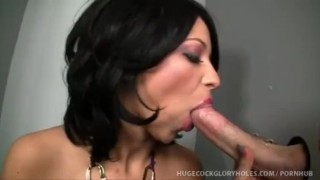Party Slut Hailey Make A Quick Stop To Suck Gloryhole Cock  handjob brunette hugecockgloryholes.com natural tits big tits masturbation cumshot blowjob gloryhole pornstar
