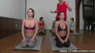 Dirty yoga instructors naughty lesson  big tits colombian femdom yoga cfnm fetish skinny massage mommy milf brunette mature latina group