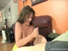 His girlfriends mom wants to teach him how to fuck jerk his cocky