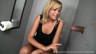 Darcy Sucks Black Cock At Club Gloryhole cumshot blow job panties handjob orgasm cum cock gloryhole jizz washroom