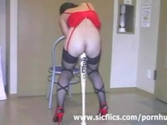 Extreme slave fucked with a huge base...
