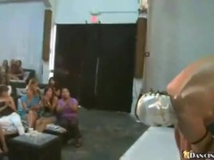 Hot Club Girls Suck Masked Dude's Dick