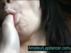 Amateur czech girl Dana - lapdance, fingering and blow job
