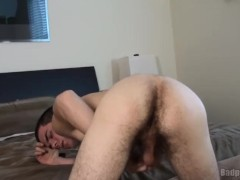 Ass view and rough tug