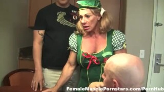 Wild Kat - Collecting for Troop 21  kinky muscle posing femdomme hand job flexing femalemusclepornstars.com femdom blowjob