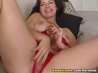 Big Tits Horny Babe Dildo Masturbating HD