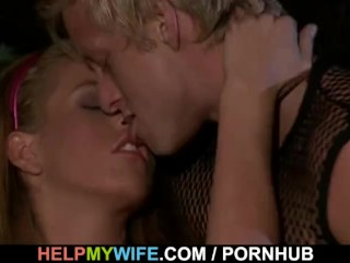 Hung stud fucks hot looking wife