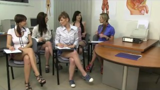 Unforgettable CFNM anatomy class with five cock-starved schoolgir  young teens babes cfnm18.com schoolgirls party femdom blowjob