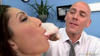 Preview 3 of Big-boobed MILF Angelica Saige gives her dentist an oral exam