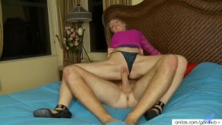 Hot hardcore mom eats cum  pussy fucking high heels reverse cowgirl blonde blowjob small tits milf hardcore brunette petite natural tits spiked heels vaginal sex cum in mouth hot mom anilos.com anilos shaved pussy