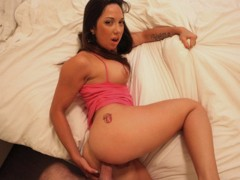 Playful french brunette Kendra White loses anal virginity on cam