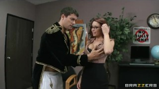 Preview 2 of Sexy redhead librarian Monique Alexander daydreams about sex