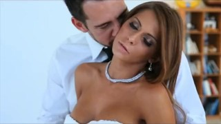 Preview 2 of Passion-HD Newly Wed Big Boobs Couple Both Hole Creampie