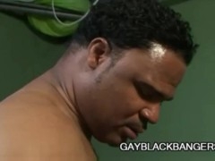 White dude getting his ass fucked by 3 black cocks