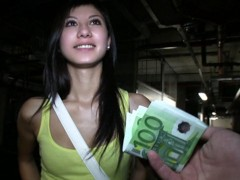 Cute brunette student trades sex for some extra cash