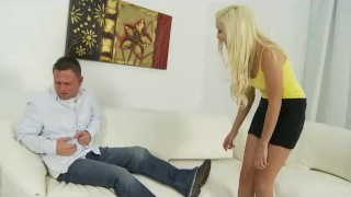 Preview 3 of Blonde Step-Sister Sucks And Fucks Her New Brother