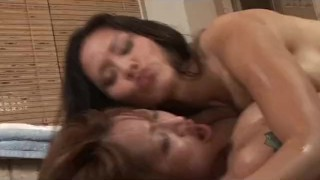Two Big Tits Asians Massage And Cum On a Client  handjob 3some big tits huge tits tits soapymassage threesomes cumshot asian fetish cum