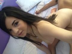 Horny big-tit Latina takes a big-dick on camera