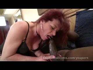 Busty Redhead Mom Rides Black Cock In Interracial Mature Video