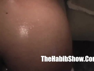 slim black hoe slurps on a dick