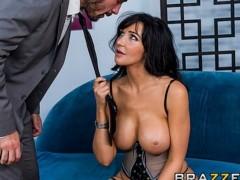 Sexy big-tit brunette Diana Prince fucks her financial adviser