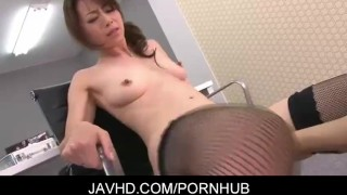 Japanese office lady Maki Hojo fucked hard  japanese hardcore mother stockings ofiice lady lingerie javhd mom