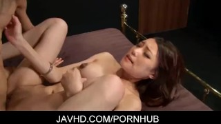 Gorgeous japanese babe Ibuki gets fucked in all kinds positions japanese tit fuck hardcore javhd shaved pussy cum