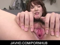 Japanese babe Nagatsuki Ram got her natural knockers grabbed