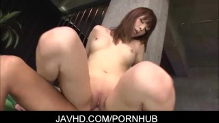 Hot asian milf Riona Suzune gets a creamed pussy lingerie japanese shaved-pussy blowjob housewife busty