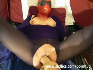 Amateur slave fisted in her ruined pussy