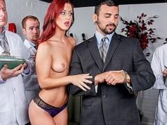 Incredibly HOT redhead Karlie Montana fucks her dream man