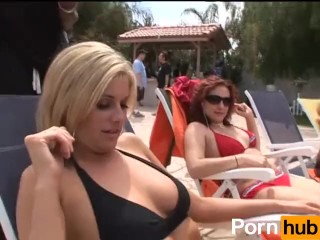 Big Ass Pool Party 02 - Scene BTS