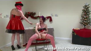 The Consequences Of Elf-Ware: A Wasteland FemDom Christmas! sex-toy dildo bdsm tied domination femdom latina puerto-rican holiday adult-toys elf