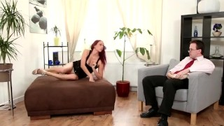 Bisexual Cuckold Threesome With Kinky Redhead  guy on guy ginger cuckold redhead blowjob taboo bisexual bi kinky mmf threesome anal pussy licking red head