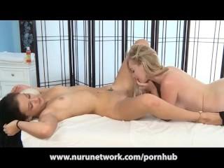 Lesbian Massage Becomes Strap On Fuckfest