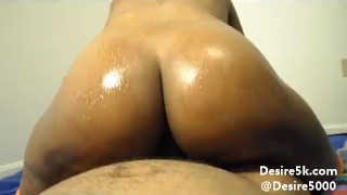 Preview 3 of Extreme Dick Riding Reverse Cow Girl Ebony Stripper in Tube Socks