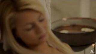 Hot girlfriends massage turns romantic