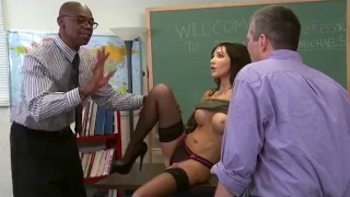 Slutty Teacher Anal Cuckold for Big Tits MILF  ass fuck big tits ass fucking bbc cuckold black mom blowjob cumshot big dick hardcore milf interracial mother anal cougar stockings teacher