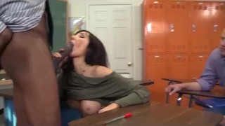 Slutty Teacher Anal Cuckold for Big Tits MILF  ass fuck big tits ass fucking bbc cuckold black mom blowjob cumshot big dick hardcore milf interracial cougar mother teacher anal stockings