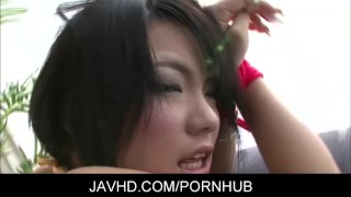 Asian chicl Haruna Katou Gets Fingered And Vibrated To Orgasm sex-toy japanese toys masturbation fingering adult toys hairy-pussy