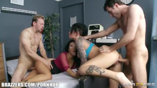 Groupie girl & hospital nurse start orgy with two band members  brunette uniform anal groupsex doctoradventures ass fucking nurse asian brazzers big dick