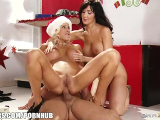 Pair of slutty moms compete for the last toy in the store