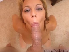 Horny Busty Mom Blows Young Cock