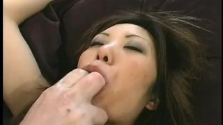 Asian Auditions - Scene 1 deep throat pornhub.com asian first scene fingering shaved creamed cock sucking short skirt brunette natural tits masturbating pussy licking cum eater